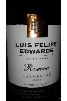 Carmenere Luis Felipe Edwards Reserva 2016